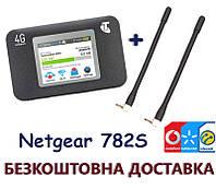 Комплект карманный мобильный 3G 4G WiFi Роутер Netgear 782S + 2 антенны усилением 4dB