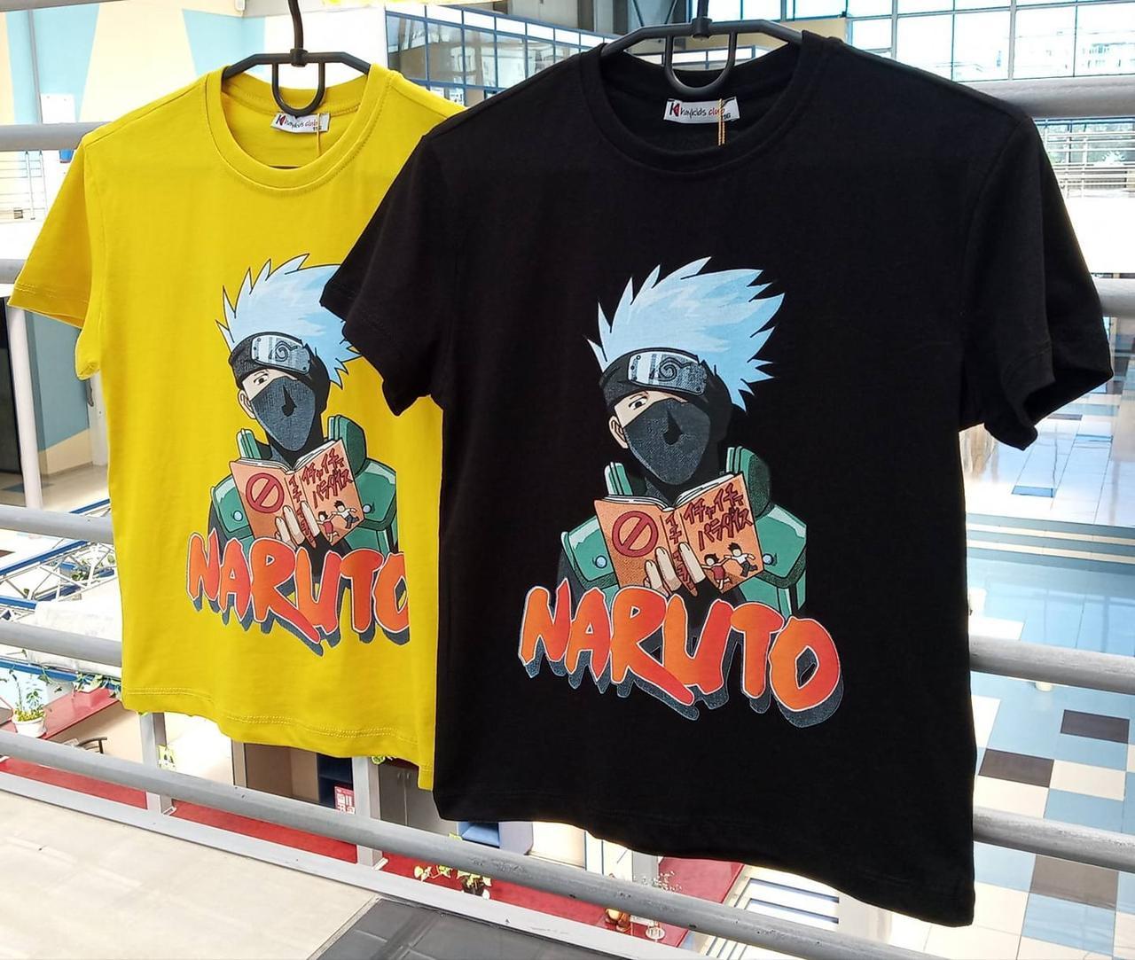 Стильные детские футболки Наруто мини! Турция. 116-140 р.