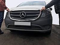 Mercedes Vito / V W447 2014 гг. Обводка решетки (2 шт, нерж)