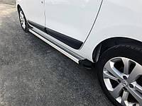 Dacia Lodgy 2013↗ гг. Боковые пороги Maya V2 (2 шт., алюминий)