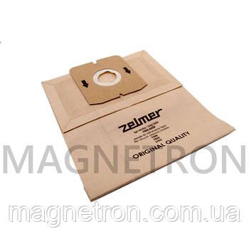 Набор мешков бумажных (5шт) для пылесосов Zelmer 1500.0050 12000744 (ZVCA015B)