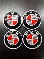 BMW X1 F-48 2015↗ гг. Колпачки в титановые диски V1 (4 шт) 55 мм