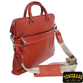 Сумка кожаная Contatto 9198-34 rosso красный