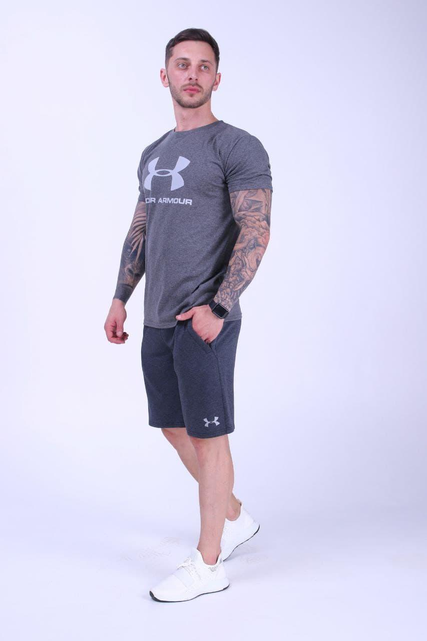 Летний мужской комплект футболка шорты Under Armour Турция