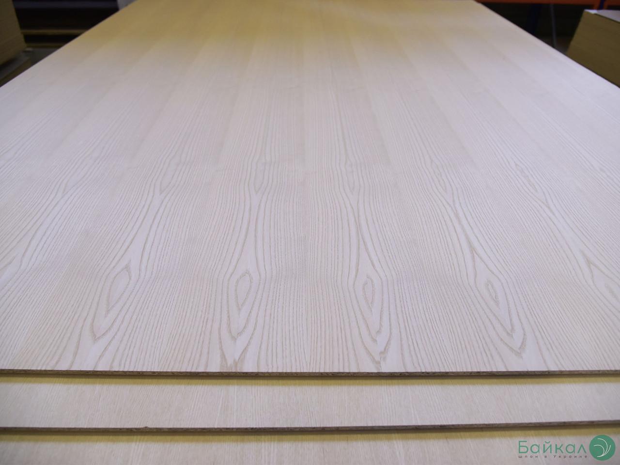 ДСП шпонована плита Білим Ясеном 11 мм А/B 2,80 х 2,07 м