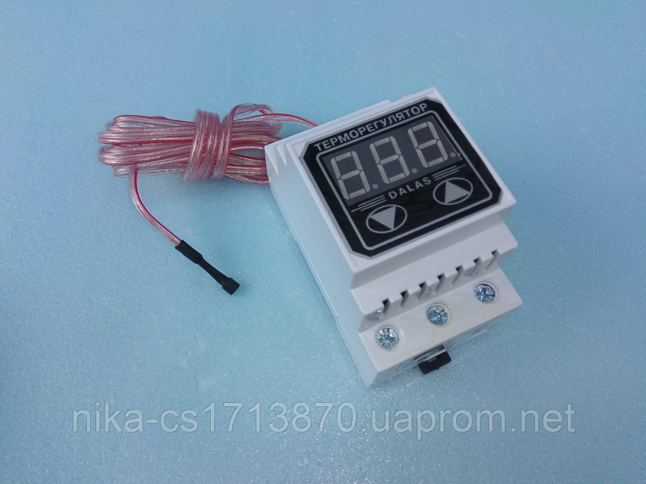 Цифровий 2-х пороговий терморегулятор з посиленими клемах Далас-40 А / 220 В.