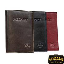 Обложка для паспорта кожаная Italico 1597  rosso красный, фото 3