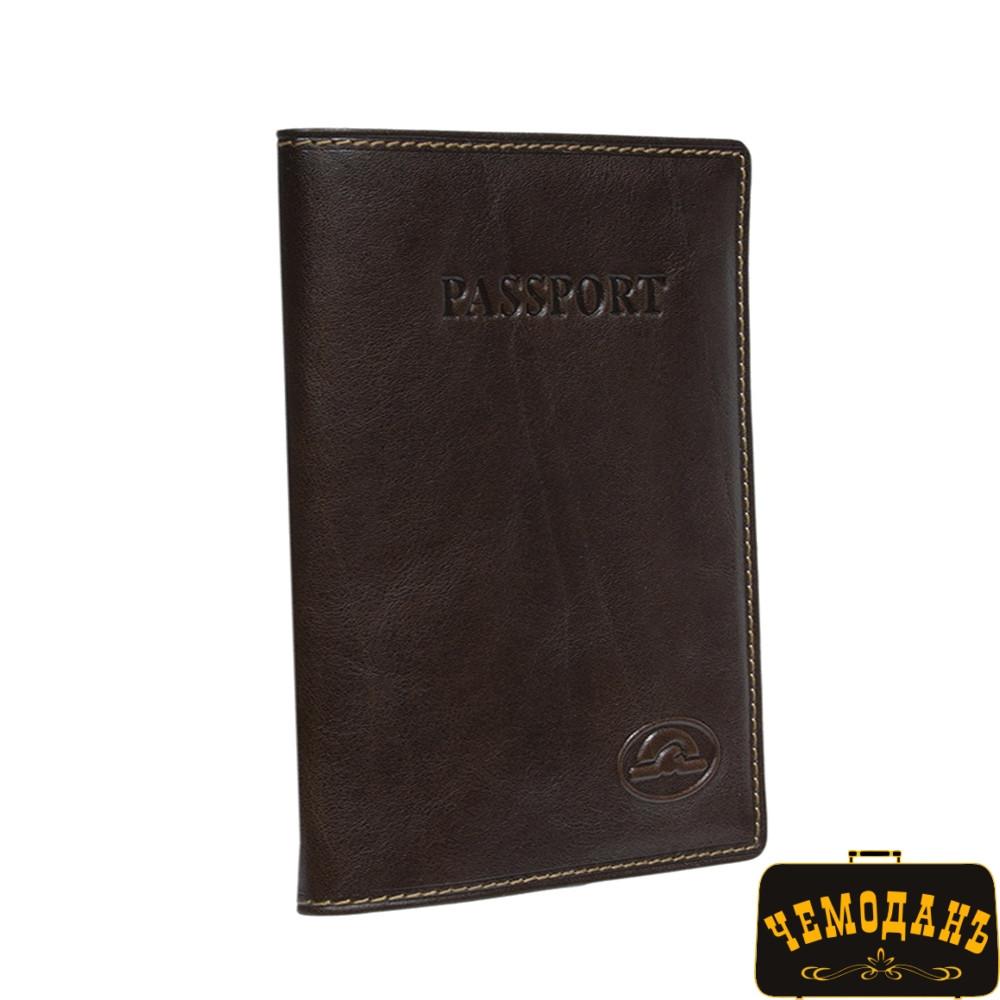 Обложка для паспорта кожаная Italico 1597 moro коричневый
