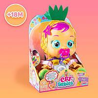 Cry Babies Tutti Frutti Pia Pineapple Интерактивная кукла пупс плакса Край бейби Ананас ароматизированная