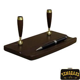 Підставка для ручок шкіряна Scrittoio 1357 moro коричневий