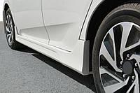 Honda Civic Sedan X 2016↗ гг. Боковые пороги (под покраску)