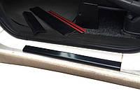 Fiat Scudo 1996-2007 гг. Накладки на пороги (2 шт, ABS) Матовые