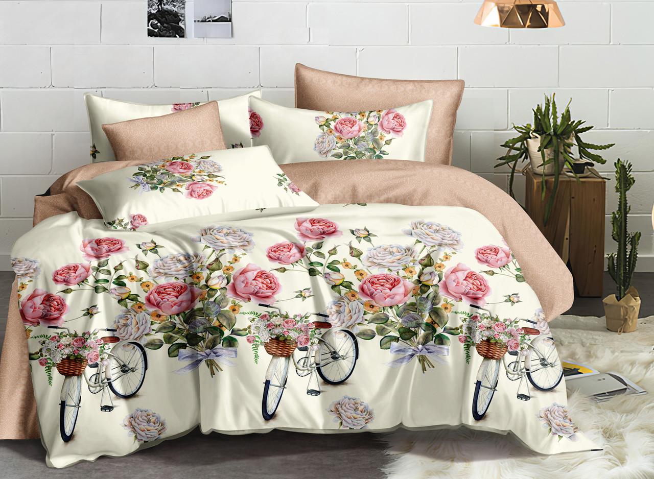 Двуспальный комплект постельного белья евро 200*220 ранфорс  (17194) TM KRISPOL Украина