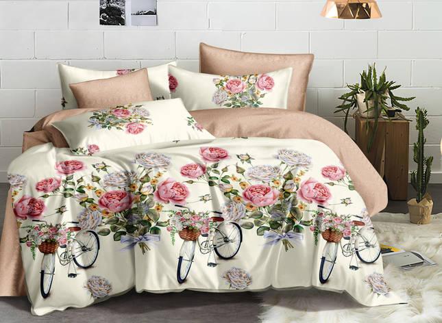 Двуспальный комплект постельного белья евро 200*220 ранфорс  (17194) TM KRISPOL Украина, фото 2