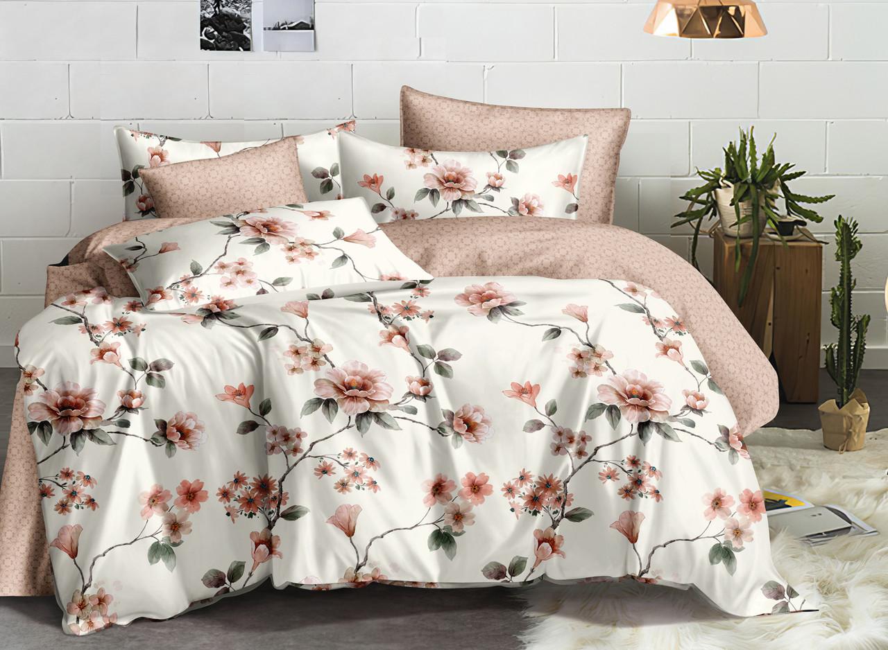 Двуспальный комплект постельного белья евро 200*220 ранфорс  (17195) TM KRISPOL Украина