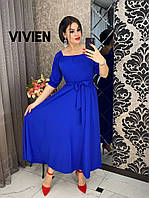 Красивое вечернее длинное платье в пол в расцветках больших размеров 48 - 64