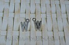 Підвіска буква W. метал. англійський алфавіт