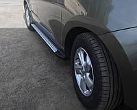 Hyundai IX-35 2010-2015 гг. Боковые пороги OEM-BMW-V2 (2 шт, пластик)