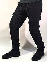 Джинсы мужские Blackzi черные с накладными карманами