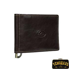 Зажим для купюр кожаный Italico 2312 moro коричневый