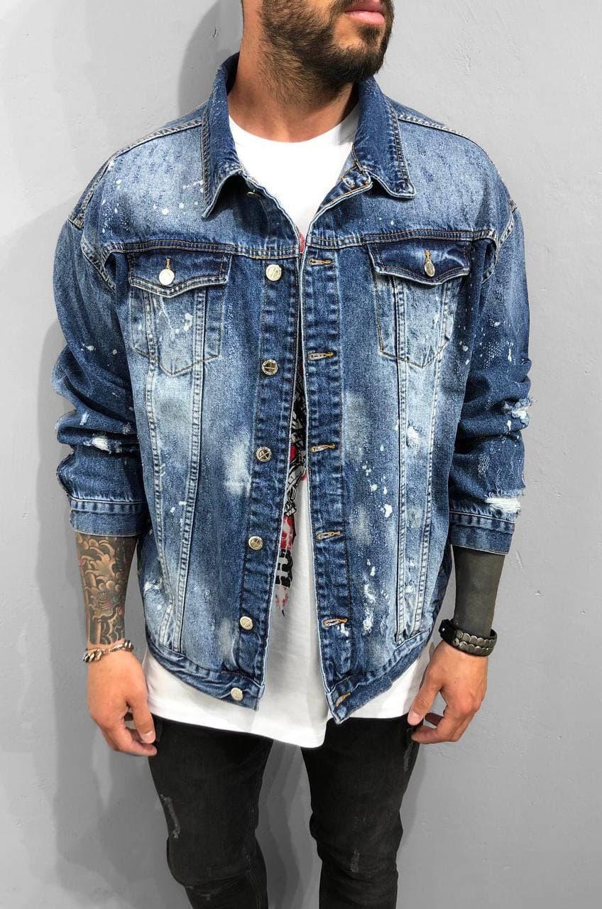Мужская джинсовка oversize Black Island light blue