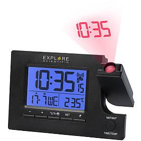 Проекційні годинники Explore Scientific Slim Projection RC Dual Alarm Black (RDP1003CM3LC2)