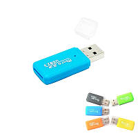 Картридер для MicroSD карт памяти TF T-Flash, USB 2.0, мини