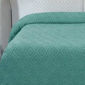 Простирадло махрова Lotus - Geo смарагд 200*220