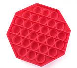 Pop It сенсорная игрушка, пупырка, поп ит антистресс, pop it fidget, попит, красный восьмиугольник, фото 2