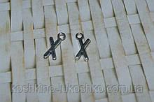 Подвеска буква X.  метал. английский алфавит