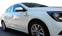 Renault Megane IV 2016↗ гг. Накладка на крыла (нерж)