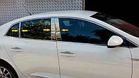 Renault Megane IV 2016↗ гг. Молдинг дверных стоек (Sedan, нерж)