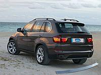 BMW X1 F-48 2015↗ гг. Накладка на задний бампер OmsaLine (нерж.)