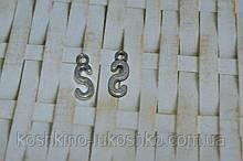 Підвіска буква S. метал. англійський алфавіт