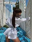 Жіночий костюм, турецька двунить, р-р 42-44; 44-46 (білий), фото 3