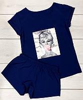 Піжама з малюнком футболка і шорти. Літні піжами.