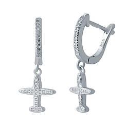 Срібні сережки pSilverAlex з фіанітами (2035589)