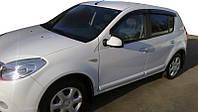 Renault Sandero 2007-2013 гг. Ветровики (4 шт, HIC)