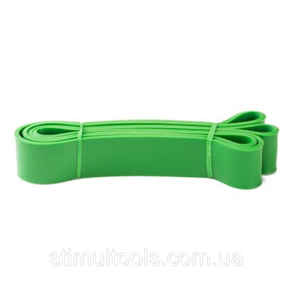 Гумова петля еспандер для фітнесу і тренувань EL-2080 45 мм (зелена)
