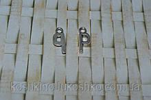 Подвеска буква P  метал. английский алфавит