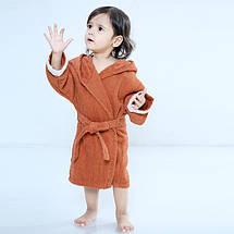 Детский Халат- Детский Банный Халат с Капюшоном - Махровый Халат Детский Хлопок FOX, фото 3