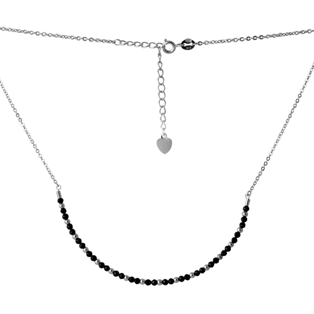Серебряное колье pSilverAlex с натуральным шпинелью (2069362) 450 размер