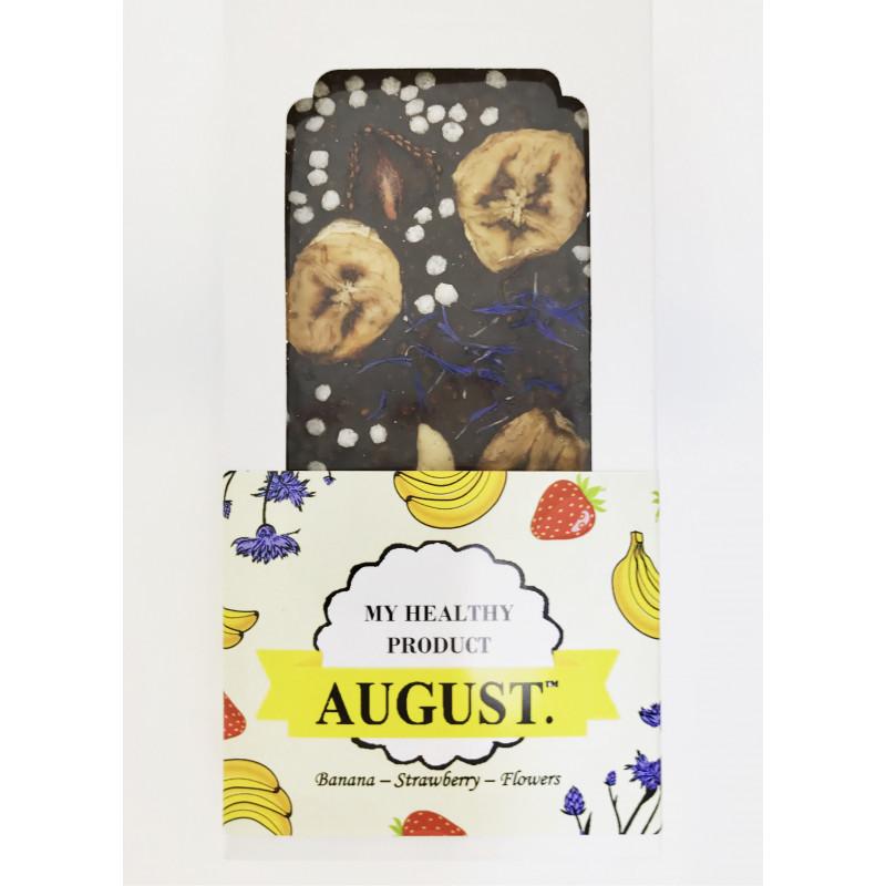 Шоколад на основі керобу з фруктами і горіхамии ТМ August