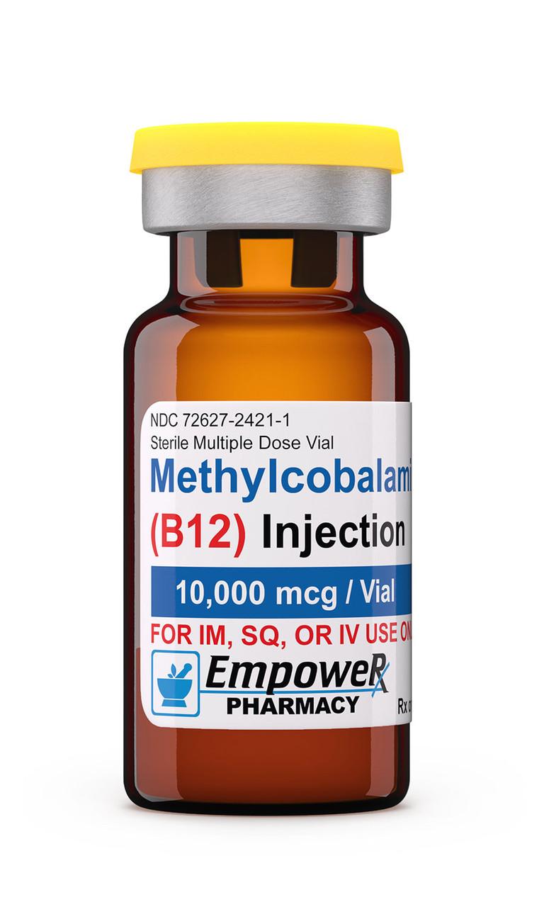 Метилкобаламин ( Витамин В12 ) 10,000 mcg Lyophilized Vial. Methylcobalamin (Vitamin B12) инъекции