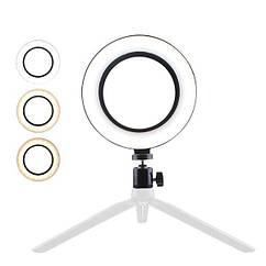 Светодиодная кольцевая лампа с держателем AUMVS F-200A 4823-14450, КОД: 1930006