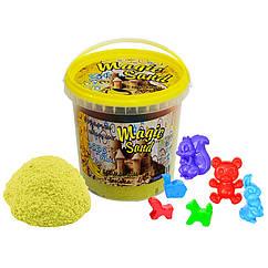 Кинетический песок Strateg Magic Sand в ведре желтый с ароматом банана 372-12, КОД: 2446543