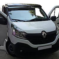 Renault Trafic 2015↗ рр. Козирок на лобове скло (чорний глянець, 5мм)