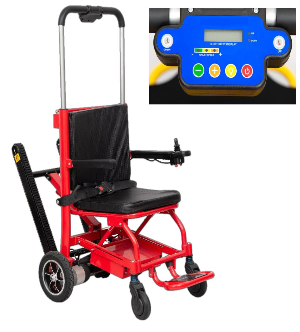 Лестничный электро подъемник-коляска для инвалидов MIRID SW02. Функция электроколяски.