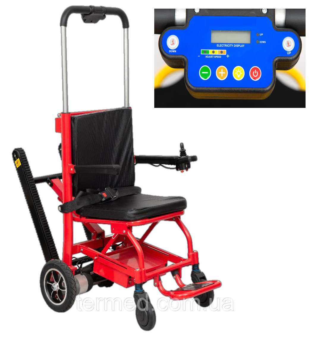 Сходовий електро підйомник-коляска для інвалідів MIRID SW02. Функція електровізка.