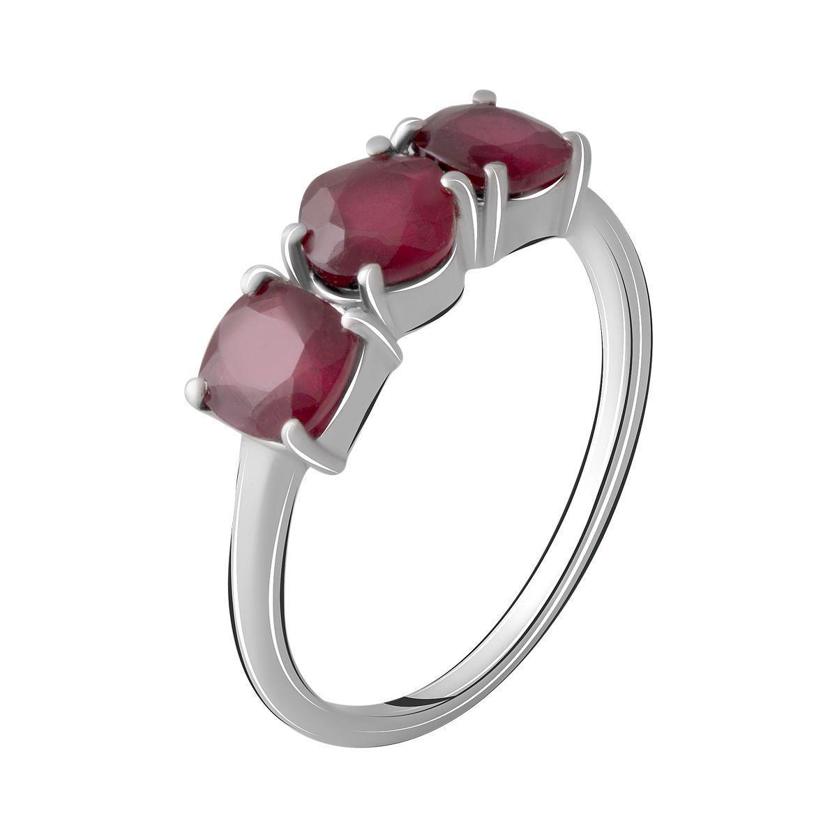Серебряное кольцо pSilverAlex с натуральным рубином 2.45ct (2068532) 18 размер